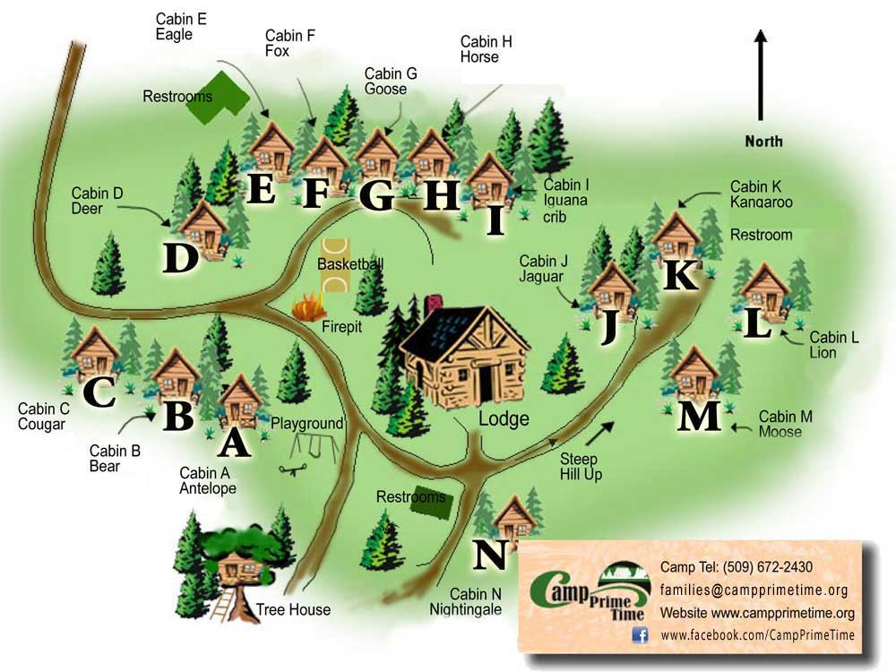 Camp Prime Time - Site Map