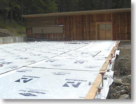 The playroom cement has been poured