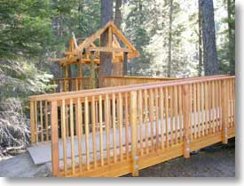 Treehouse for handicapped children
