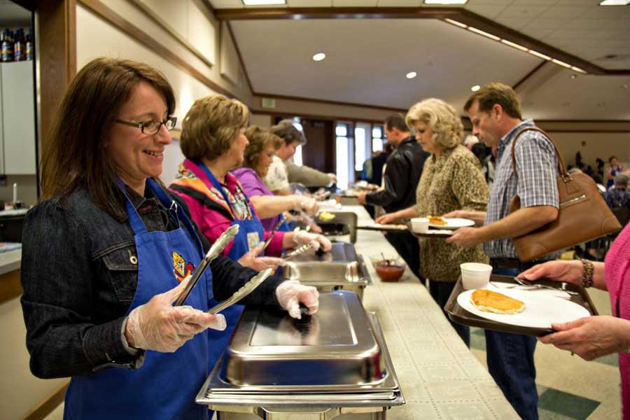 Servers at Breakfast Fundraiser
